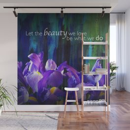 Let the beauty - Iris - iPhoneography Wall Mural