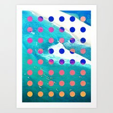SURF SAFARI Art Print