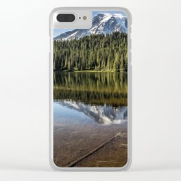Above and Below the Surface at Reflection Lake Clear iPhone Case