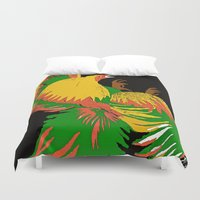rooster Duvet Covers featuring Rooster by Saundra Myles