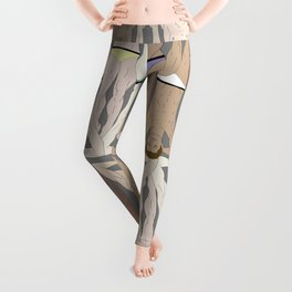 Retro Male Swimmers Leggings