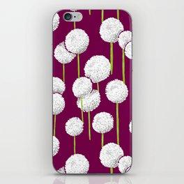 Allium - white iPhone Skin