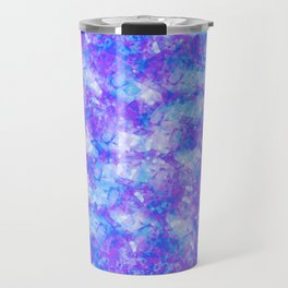 Purple, Blue and White; Fluid Abstract 54 Travel Mug