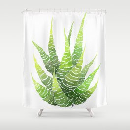 Haworthia Coarctata Shower Curtain