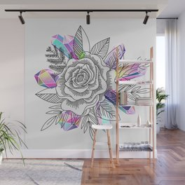 Rose and Crystals Wall Mural