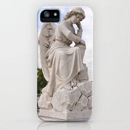 Necropolis Graveyard Statue Angel Marble Cuba Island Carving Art Icon Christian Saint Holy God Cemet iPhone Case