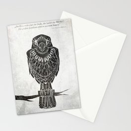 Listen To The Owl Stationery Cards