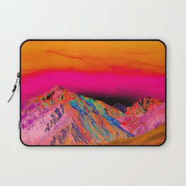 California's Sierra Mts-Digital Art, Pink & Orange Laptop Sleeve