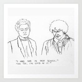 Friends quote Art Print