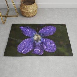 Rain Drop Violet Rug