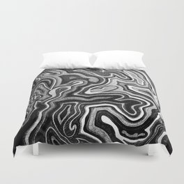 Abstract #1 - I - Silvered Duvet Cover