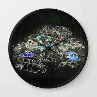 cars Wall Clocks featuring Cars by Alyssa Dennis