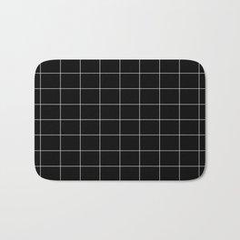 Black squares Bath Mat