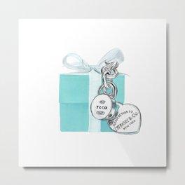 Blue Jewellry Box Metal Print