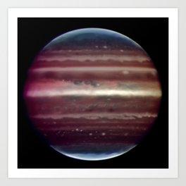 Jupiter taken in infrared ligh Art Print