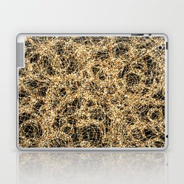 Gold Thread on Black | Abstract Brain Map 3 Laptop & iPad Skin