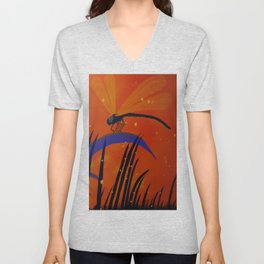 By the fire Unisex V-Neck