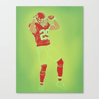 49ers Canvas Prints featuring 49er Chris Culliver Print by Courtney Charlton