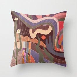 Desert breeze Throw Pillow