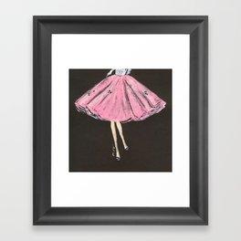 Jolie Pink Fashion Illustration Framed Art Print