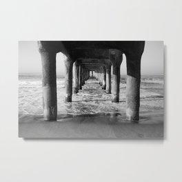 Manhattan Beach Pier | Manhattan Beach Photography | Manhattan Beach Art | Manhattan Beach Print Metal Print
