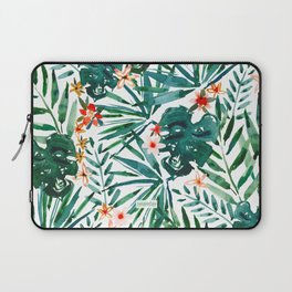 TROP DON'T STOP Tropical Palms and Monstera Laptop Sleeve