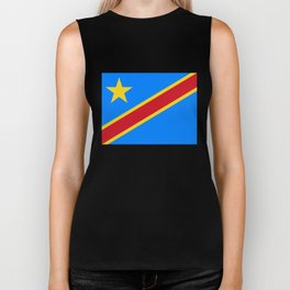 National flag of the Democratic Republic of the Congo, Authentic version (to scale and color) Biker Tank