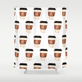 Coffee and Hustle on the Go Shower Curtain