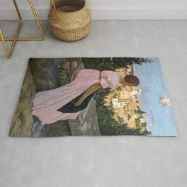 Frederic Bazille artwork - The Pink Dress Rug