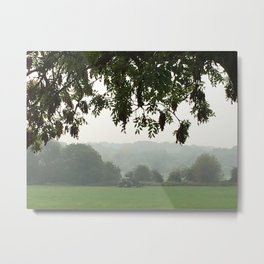 Cutting The Grass Metal Print