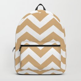 Burlywood - brown color - Zigzag Chevron Pattern Backpack