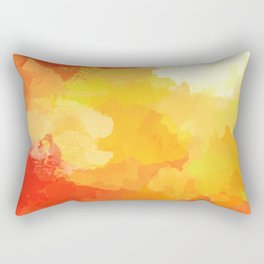 Colorful Abstract - red orange pattern Rectangular Pillow