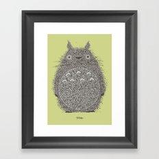 Avocado Totoro Framed Art Print