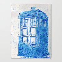 tardis Canvas Prints featuring TARDIS by Redeemed Ink by - Kagan Masters