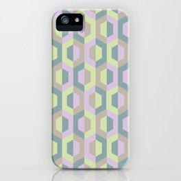 Pastel Two Tone Hexagon iPhone Case