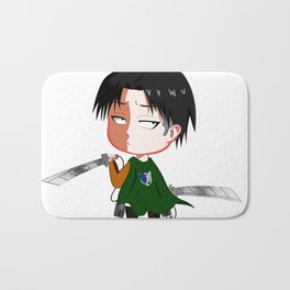 "Chibi Captain Levi (Rivaille) from ""Attack On Titan""/""Shingeki No Kyojin"" Bath Mat"