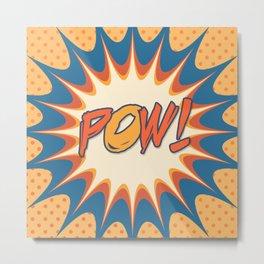 POW! Polka Dot Vintage Graphic Novel Art Metal Print