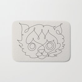 One Line Cat Bath Mat