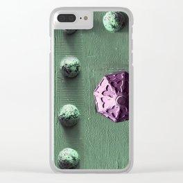Door Knob #7 on Painted Wooden Door Clear iPhone Case