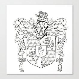 Swormanship Coat of Arms Canvas Print