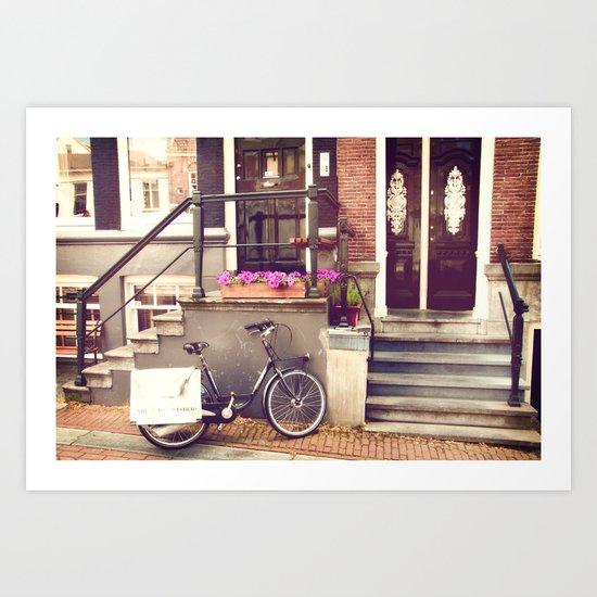 Amsterdam Doorstep Art Print