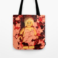american beauty Tote Bags featuring American Beauty by Studio Ten Media