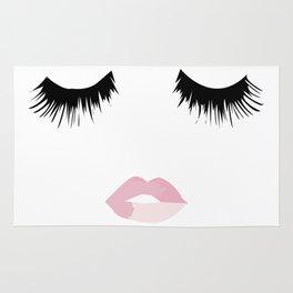 Eyelash Lip Print Rug