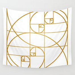Golden Waves Wall Tapestry