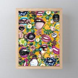 Sexy Floral Garden Framed Mini Art Print