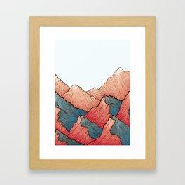 Sea Peaks Framed Art Print