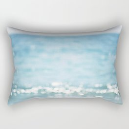 Beach Ocean Photography Art, Blue Coastal Photo, Aqua Seascape Photograph, Waves Art Rectangular Pillow