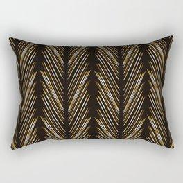 Wheat grass black Rectangular Pillow
