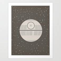 Death Star DS-1 Orbital Battle Station Art Print