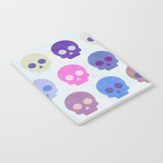 Colorful Skull Cute Pattern III Notebook